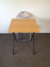 Plegable examen Class Room Snack Comedor Camping Laptop Café Bistro Mesa Y Silla