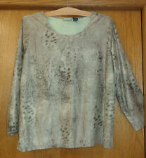 Woman's size 2X - Brown Animal Print TOP - Onque Woman PULLOVER - Moleskin feel