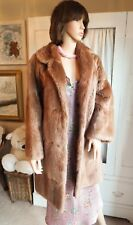 fbc21055272 Vintage 60s 70s ight brown autumn haze real mink musquash fur opera coat Ex  cond