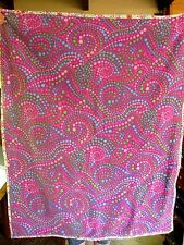 "Handmade Swirly Dots  Baby Throw Blanket Multi Color  42""x 34""  NEW Super Soft"