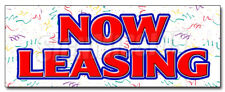 NOW LEASING DECAL sticker for lease rent office retail space apartment