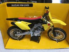 New Ray 1/12 2014 Suzuki RM-Z450 Dirt Bike Motorcycle Yellow / Black 57643