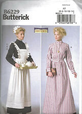 BUTTERICK 6229 Misses Upstairs Downstairs Downton Abbey Georgian Costume Pattern