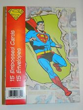 15 Superman Xmas Cards Vtg DC Action Comics 3 Styles Collectors Box Holiday New