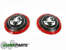 2012-2017 FIAT 5OO ABARTH SCORPION CENTER CAPS SET OF 2 OEM MOPAR GENUINE NEW