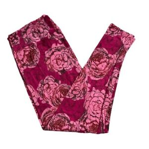 NEW 2020 LuLaRoe TC Pink Flowers Breast Cancer BCA Leggings