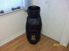 BELDING SPORTS BLACK SOFT LEATHER(?) STAFF/CADDY/CART GOLF BAG