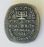 B'nai B'rith Jerusalem 1959 Jewish World Convention Pin Badge Rare Vintage (J11)