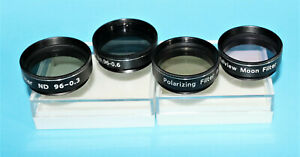 "Set of 4 Superior Threaded Colour Filters for 1.25"" Telescopes, Brand New, SALE!"