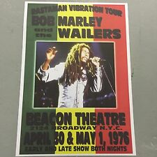 BOB MARLEY - CONCERT POSTER - NEW YORK CITY 30TH APRIL + 1ST MAY 1976  (A3 SIZE)