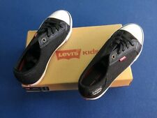 Levi's Kids athletic shoes, boy or girl, black/white, Size 2, New