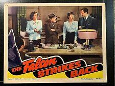 THE FALCON STRIKES BACK 1943 ORIGINAL LOBBY CARD, TOM CONWAY