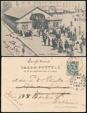 FRANCE to IRELAND 1903 LONDON MB RAILWAY STATION PPC DIEPPE FISHMARKET