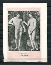 Tafel um 1898 -  Palmo Vecchio , Adam und Eva (J800)