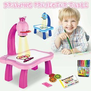 Kids Projector Painting Learning Drawing Table With Light Music Toys Child Gifts