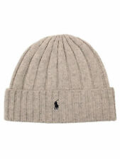 POLO RALPH LAUREN NWT LIGHT GRAY (cuff beanie) Wool Knit Skull Cap Hat ONE SIZE