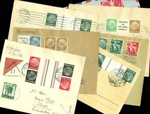 EDW1949SELL : GERMANY Interesting collection of 7 items, all with combinations.