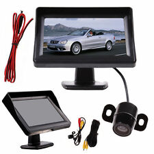 4.3'' TFT LCD Monitor + CCTV Wireless Car Parking Reverse Back Up Camera CMOS