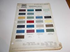 1971 LINCOLN RINSHED-MASON PAINT CHIPS  LINCOLN CONTINENTAL MARK III THUNDERBIRD