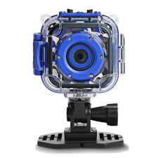 DROGRACE Children Kids Camera Waterproof Digital Video HD Action 1080P Blue