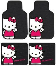 RED Hello Kitty Waving 4PC Rubber Floor Mats Front / Rear for Cars & Trucks HS7