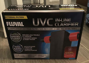 Fluval UVC In-Line Water Clarifier Up To 100 US Gallons/400 Liters A203 New