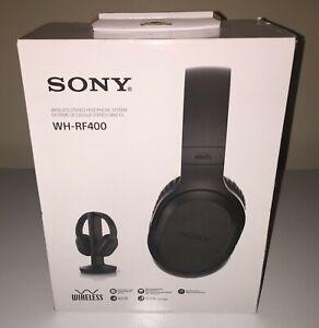 ONE new Sony WH-RF400 RF Wireless Headphone Home Theater gaming Black open box