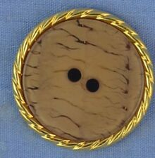 25mm Fawn / Gold 2 Hole Button