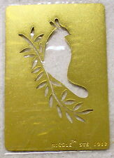NICOLE Holiday Partridge Dove Brass Stencil NEW Template Airbush Emboss B91