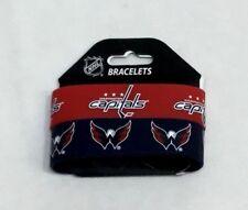 NHL Washington Capitals 2 Pack Bracelet Wrist Bands Set Rubber PVC Type FREESHP