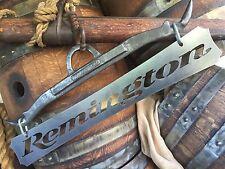 Iron Metal Remington Gun Sign wall art plaque hunter cabin rustic vintage rifle