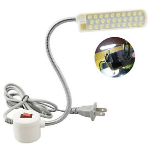30 LED Sewing Machine Light Working Gooseneck Lamp with Magnetic Base Switch UK