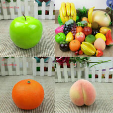 Realistic Artificial Lifelike Plastic Fruit kitchen Fake Display Home Food Decor