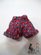 C.C.T middie neo Blythe Dal doll outfit apple prints denim shorts (blue) c-558