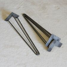 Reinforced 3-rod Hairpin Leg 56 Cm/22 Inch Set of 4 Modern Mid Centry Raw Steel