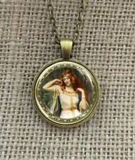 Goddess Freya  pendant necklace +  Box - Norse Mjolnir Odin Thor Hammer Viking