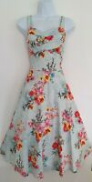 Womens Joe Browns Green Floral Netted Full Circle 50s Style Flared Dress 12.