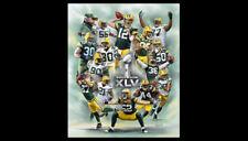 Green Bay Packers SUPER BOWL XLV Commemorative Poster Print (14 Superstars)