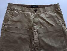 Zara Man Men Khaki Pants Tan Size 36 Cotton Blend