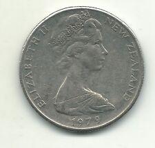High Grade Au 1979 New Zealand 50 Cents Endeavour Ship Coin-Mar309