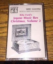 Rita Ford's Joyous Music Box Christmas Vol 2 Cassette New!