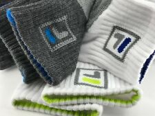 Men's FILA Brand BOLD COLORS Quarter Crew Socks - 10 PACK  - $40 MSRP - 10 Pairs
