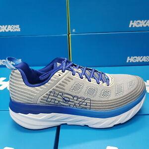 NEW Hoka One One Bondi 6 1019269/VBFG Grey/Blue Running Shoes For Men's