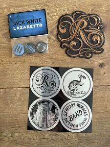 Jack White Raconteurs Patch Stickers Pins