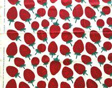 Marimekko Pieni Mansikka fabric 50 x145 cm,100% cotton, red
