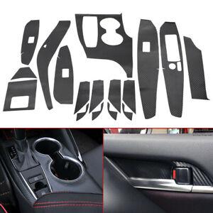 Carbon Fiber Car Interior Decor Kit Trim Sticker Fit For Toyota Camry 2018-2021