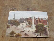 J Salmon postcard - The Monument Southport - Artist A.R Quinton
