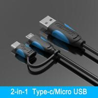 Vention A60 Micro USB 2.0 Transfer To Type-C Data Sync Cable Adapter Converte DI