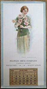 Leakesville, MS 1921 Advertising Calendar/12x24 Poster: Drug Store - Mississippi