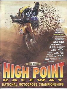 Vintage High Point Nationals 1997 AMA Motocross Program Greg Albertyn Suzuki